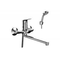 Смеситель однозахватный (35 мм) для ванны, с плоским изливом 350мм, RS29-33