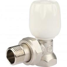 """STOUT Клапан ручной терморегулирующий с неподъемным шпинделем, угловой 1/2"""""""