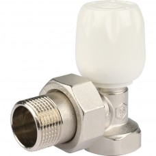 """STOUT Клапан ручной терморегулирующий с неподъемным шпинделем, угловой 3/4"""""""