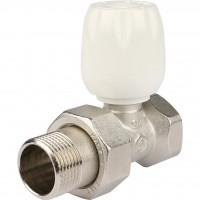 """STOUT Клапан ручной терморегулирующий с неподъемным шпинделем, прямой 3/4"""""""