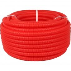 STOUT Труба гофрированная ПНД, цвет красный, наружным диаметром 20 мм для труб диаметром 14-18 мм