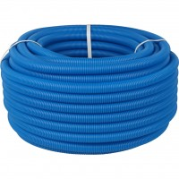 STOUT Труба гофрированная ПНД, цвет синий, наружным диаметром 20 мм для труб диаметром 14-18 мм