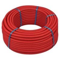 Труба м-пластик HENCO 16х2.0 мм в красной гофре, бухта 25 метров