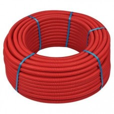 Труба м-пластик HENCO 20х2.0 мм в красной гофре, бухта 50 метров