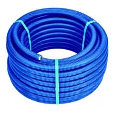 Труба м-пластик HENCO 20х2.0 мм в синей гофре, бухта 50 метров