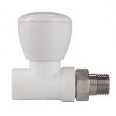 """Клапан (вентиль) PPR для подключения радиатора прямой 20х1/2"""""""
