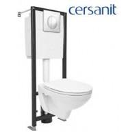 Комплект: Cersanit DELFI (наст. с сид. т/п lift+инст. BLACK с кн. LEON, хром глянцевый)