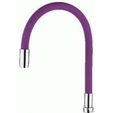 Излив LEDEME гибкий , фиолетовый  G3/4
