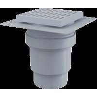 Трап ALCAPLAST 150*150/110мм. прямой пластм.решетка APV11