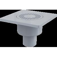 Трап ALCAPLAST 150*150/50мм. прямой пластм.решетка APV4