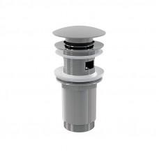 Клапан донный автом. сlick/clack д.32  цельнометалл. с переливом и большой заглушкой A392 ALСAPLAST