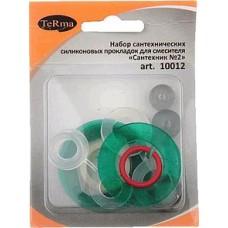"""Набор сантех.прокладок для смесителя """"Сантехник"""" (силикон) №2 10012 в блистере"""