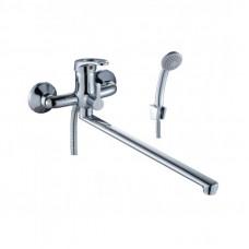 Смеситель однозахватный (35 мм) для ванны, с плоским изливом 350мм, B35-32*