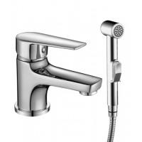 Смеситель однозахватный (35 мм) для умывальника, с гигиеническим душем, S35-15 *