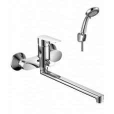 Смеситель однозахватный (35 мм) для ванны с плоским изливом 350 мм, хром