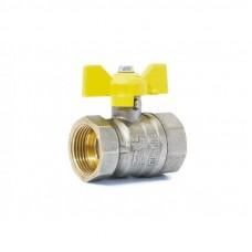 """Кран шаровой газовый 3/4"""" в-в бабочка LD Pride GAS Ру40 Tmax=80"""