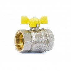 """Кран шаровой газовый 1 1/4"""" в-в бабочка LD Pride GAS Ру40 Tmax=80"""