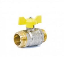 "Кран шаровой газовый 1"" н-н бабочка LD Pride GAS Ру40 Tmax=80"