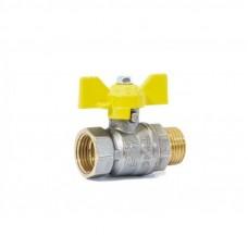 "Кран шаровой газовый 1/2"" в-н бабочка LD Pride GAS Ру40 Tmax=80"