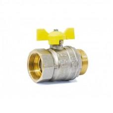 "Кран шаровой газовый 1 1/4"" в-н бабочка LD Pride GAS Ру40 Tmax=80"