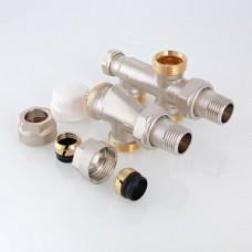 """Термостатический узел для нижнего подкл. рад. Двухтрубная система (комплект) 1/2""""х100%"""
