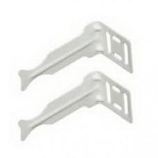 Комплект кронштейнов угловых для радиатора отопления (белый) Royal Thermo